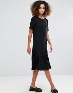Платье с заниженным краем YMC Basic - Черный