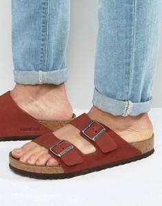 Нубуковые сандалии Birkenstocks Arizona - Красный