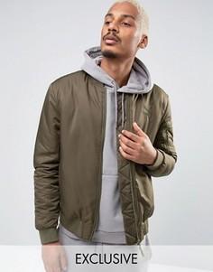 Зеленая утепленная куртка-пилот Puma 57445802 - Зеленый