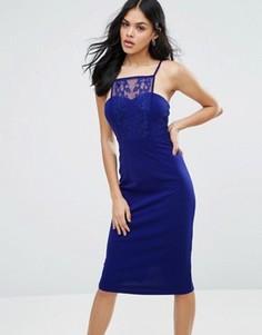 Облегающее платье миди Little Mistress - Синий