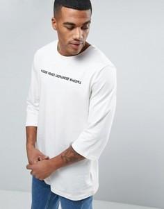 Белая футболка с рукавами 3/4 Puma Russian 57443401 - Белый