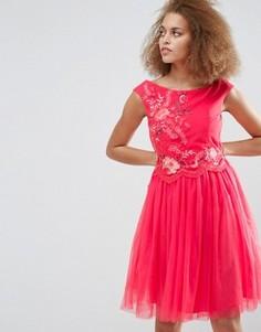 Платье для выпускного с вышивкой Little Mistress - Красный