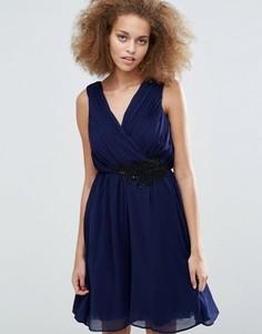 Платье с аппликацией Little Mistress - Темно-синий