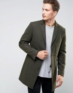 Пальто Selected Homme - Зеленый