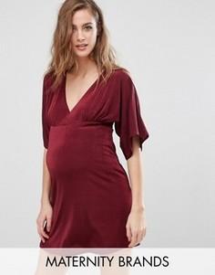 Платье для беременных с рукавами-кимоно и V-образным вырезом Missguided Maternity - Красный