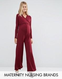 Комбинезон с длинными рукавами для кормления Bluebelle Maternity - Красный