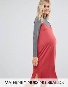 Платье-комбинация 2-в-1 для кормления Bluebelle Maternity - Красный
