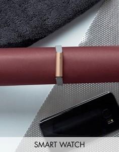 Спортивный браслет цвета розового золота с серым кожаным ремешком Misfit Ray - Серый