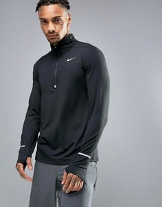 Черный свитшот с молнией до середины груди Nike Running Dri-FIT Element 683485-010 - Черный