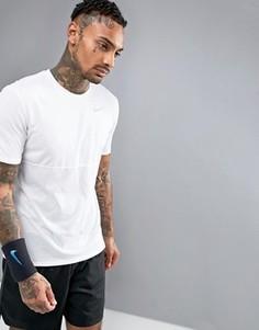 Белая футболка Nike Running Racer 644396-102 - Белый