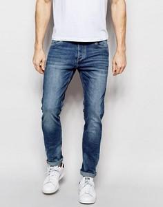 Светлые узкие эластичные джинсы Jack & Jones Intelligence - Синий