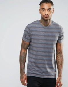 Полосатая футболка Brave Soul - Серый