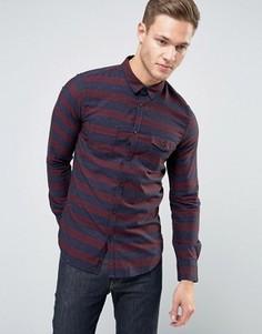 Рубашка классического кроя с карманами Sisley - Красный