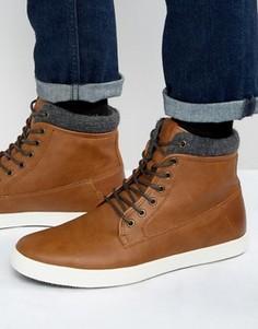 Кожаные кроссовки на шнуровке ALDO Tripper - Рыжий