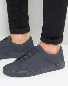 Темно-синие кроссовки на шнуровке ASOS - Темно-синий