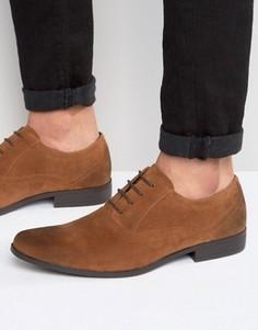 Коричневые оксфордские туфли из искусственной замши ASOS - Рыжий
