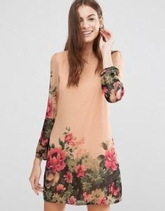 Платье-туника с цветочным принтом Yumi - Розовый