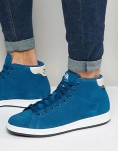 Синие зимние кроссовки adidas Originals Stan Smith S80499 - Серый