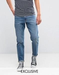 Синие стретчевые джинсы слим Noak - Синий