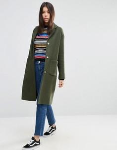 Пальто в мальчишеском стиле ASOS - Зеленый