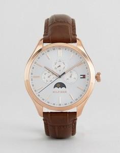 Часы с хронографом и кожаным ремешком Tommy Hilfiger Oliver - Черный