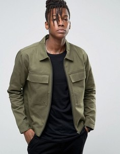 Куртка в стиле милитари с большими карманами Only & Sons - Зеленый