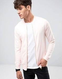 Розовая легкая трикотажная куртка-пилот облегающего кроя ASOS - Розовый