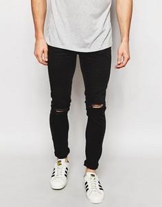 Рваные облегающие джинсы New Look - Черный
