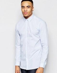 Бело-голубая рубашка классического кроя в полоску New Look - Синий