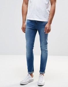 Синие выбеленные джинсы скинни New Look - Синий
