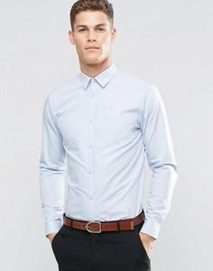 Светло-голубая рубашка из поплина классического кроя New Look - Синий