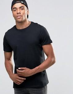 Черная футболка с круглым вырезом New Look - Черный