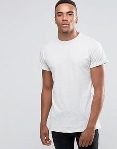 Кремовая футболка с закатанными рукавами New Look - Бежевый