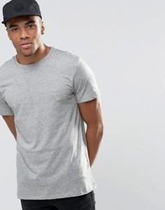 Серая меланжевая футболка с круглым вырезом New Look - Серый