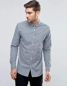 Темно-синяя клетчатая рубашка классического кроя New Look - Темно-синий