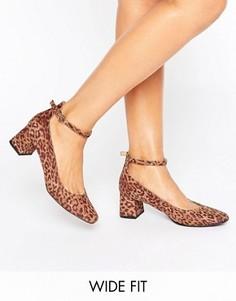 Туфли на блочном каблуке для широкой стопы New Look - Мульти
