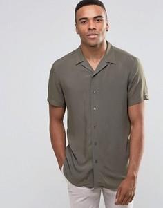 Классическая рубашка цвета хаки с отложным воротником New Look - Зеленый