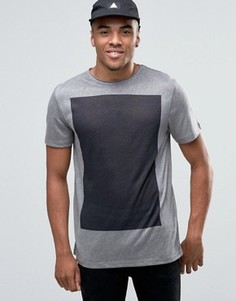 Серая футболка с принтом на спине New Look - Серый