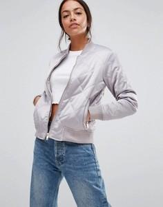 Стеганая куртка‑пилот New Look - Серый
