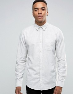 Светло-серая рубашка классического кроя New Look - Белый