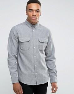 Рубашка классического кроя с длинными рукавами New Look - Серый