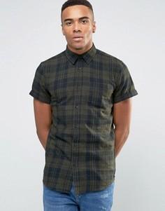 Рубашка в клетку классического кроя New Look - Зеленый