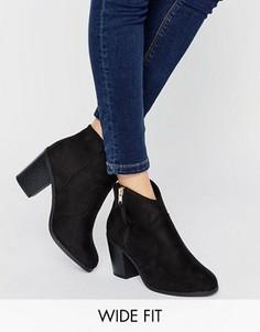 Полусапожки для широкой стопы в стиле вестерн New Look - Черный