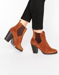 Замшевые ботинки челси в стиле вестерн New Look - Рыжий