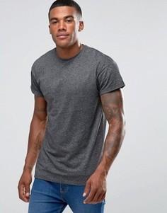 Серая футболка с подвернутыми рукавами New Look - Серый