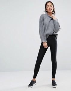 Леггинсы с завышенной талией New Look - Черный