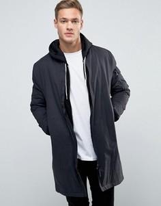 Удлиненная черная куртка-пилот New Look MA1 - Черный