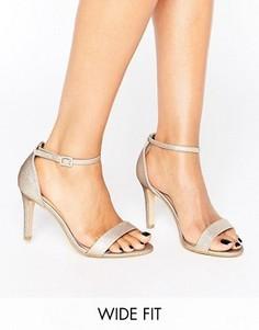 Босоножки на каблуке для широкой стопы New Look - Золотой