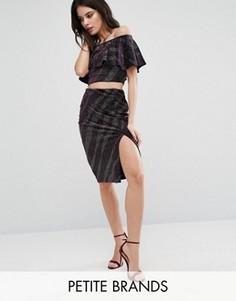 Облегающая юбка с блестками New Look Petite - Фиолетовый