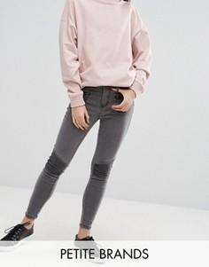 Супероблегающие джинсы New Look Petite - Серый